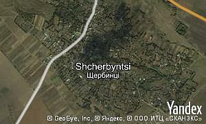 Map of  village Shcherbyntsi