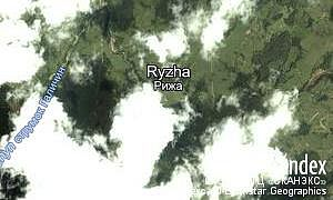 Map of  village Ryzha