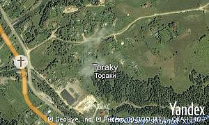 Map of  village Toraky