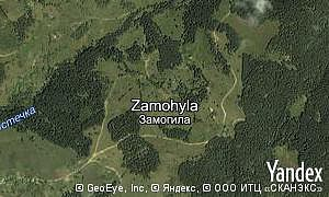 Map of  village Zamohyla
