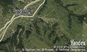 Google map of  village Dovhopillia