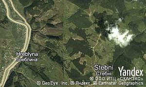Map of  village Stebni