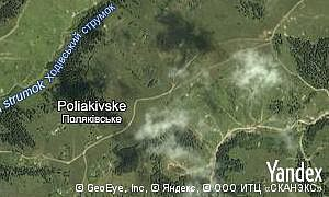 Map of  village Poliakivske