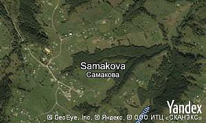 Map of  village Samakova