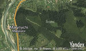 Map of  village Marynychi