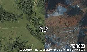 Yandex map of  village Yamy