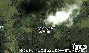 Map of  village Vypchyna