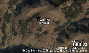Satellite map of  village Foshky