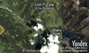 Satellite map of  village Ust-Putyla