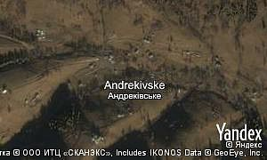 Map of  village Andrekivske