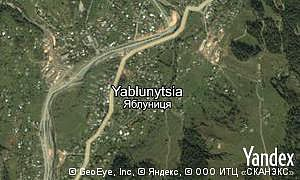 Map of  village Yablunytsia