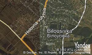 Map of  village Bilousivka