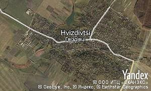 Map of  village Hvizdivtsi
