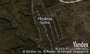 Google map of  village Hrubna