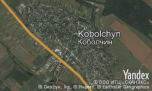 Google map of  village Kobolchyn