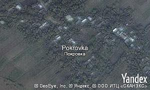 Map of  village Pokrovka
