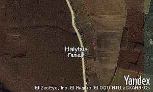 Map of  village Halytsia