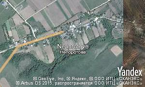 Yandex map of  village Neporotove