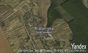 Map of  village Bratanivka