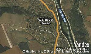 Yandex map of  village Ozheve
