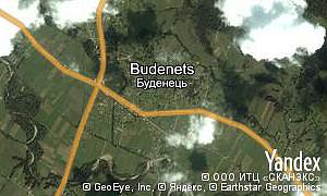 Map of  village Budenets
