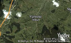 Yandex map of  village Yizhivtsi