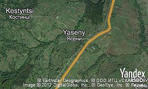 Map of  village Yaseny