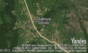 Map of  village Dubove