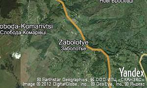 Map of  village Zabolotye