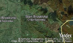 Map of  village Stari Broskivtsi