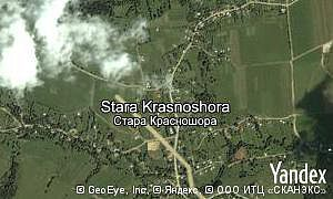 Map of  village Stara Krasnoshora