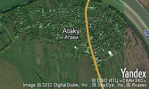 Google map of  village Ataky