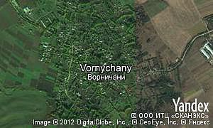 Map of  village Vornychany