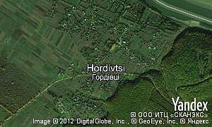 Map of  village Hordivtsi
