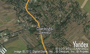 Map of  village Dankivtsi