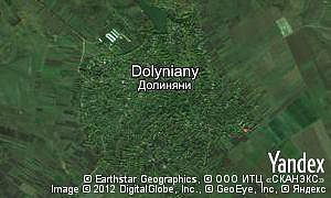 Map of  village Dolyniany