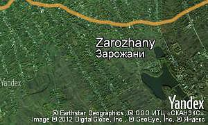 Map of  village Zarozhany