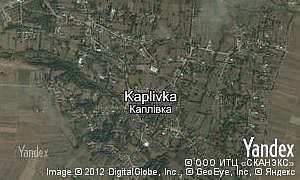 Yandex map of  village Kaplivka