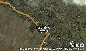 Map of  village Kruhlyk