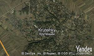 Map of  village Krutenky