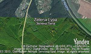 Map of  village Zelena Lypa