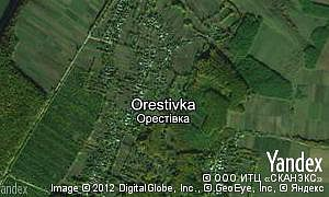 Map of  village Orestivka