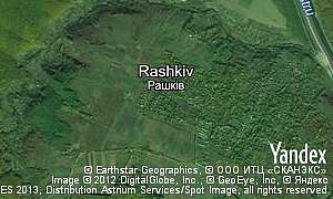 Map of  village Rashkiv