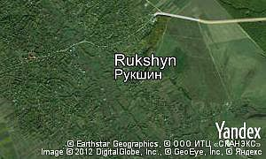 Map of  village Rukshyn