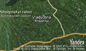 Map of  village Vladychna