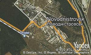 Google map of  city Novodnistrovsk