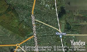 Satellite map of  city Kitsman