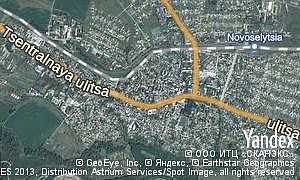 Map of  city Novoselytsia