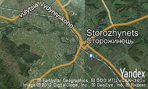 Map of  city Storozhynets